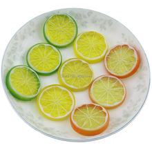 Gresorth 9 PCS Artificial Lemon Slices Collection Fake Fruits Decoration Photography Props