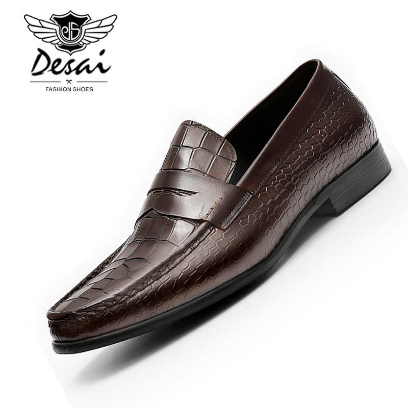 Mens Alligator crocodile Slip On Driving Moccasin Casual Loafer Shoes Flats 2020