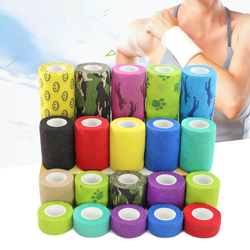 Waterproof Medical Therapy Self Adhesive Bandage Muscle Tape Wrap Sport Finger Joints Wrap First Aid Kit Pet Elastic Bandage