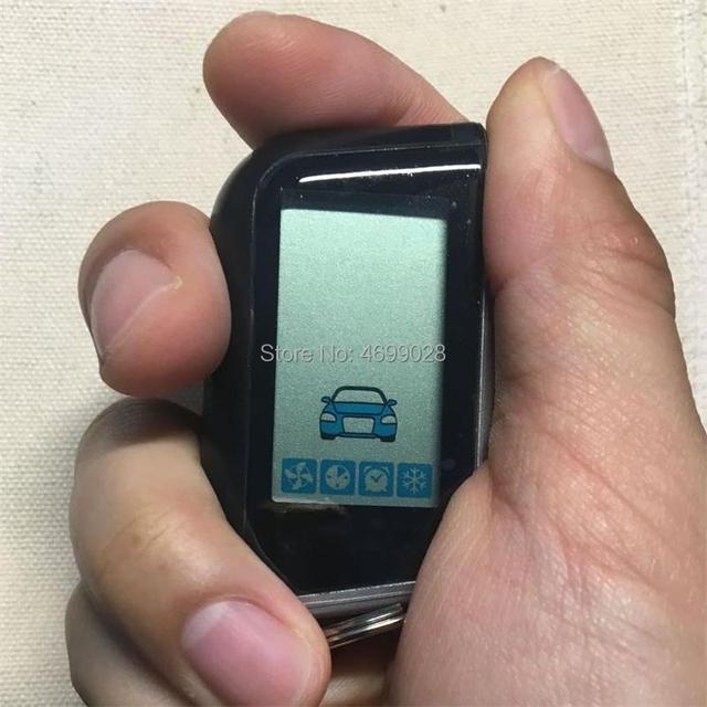 Russian A93 Vertical screen LCD Remote Control Keychain for Twage Starline A93 Two Way Car Burglar Alarm System Key Fob Chain