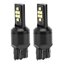 12SMD 1 par 7443 LED Branco Luzes de Freio Do Carro de Parada Vire Sinal de Inversão de Backup Lâmpada Lâmpada Luz de Freio