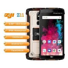 HOMTOM зоджи Z11 IP68 Водонепроницаемый пыли 10000 mah смартфон 4 GB 64 GB Octa Core сотовый телефон 5,99 «18:9 Face ID 4G мобильный телефон