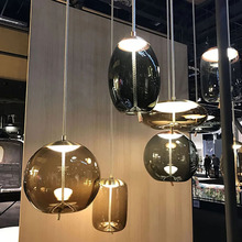 Nordic Design Glass Rope Pendant Lights Led Pendant Lamp Living Room Restaurant Bedroom Kitchen Fixtures Hanging Lamp Luminaire nordic planet pendant lights led hanging lamp colorful hang lamp for living room bedroom kitchen light fixtures decor luminaire