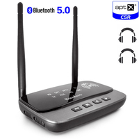262ft/80m NFC Long Range Bluetooth 5.0 stereo audio Music Transmitter Receiver 3 in 1 wireless Audio Adapter Low Latency aptX HD