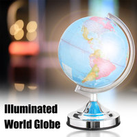3 Brigtness Adjust LED Light Globe World Map Home Office Desktop Decorative Earth Geography School Educational Supplies 20cm