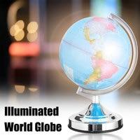 3 Brigtness Adjust LED Light Globe World Map Home Office Desktop Decorative Earth Geography School Educational Supplies 20cm