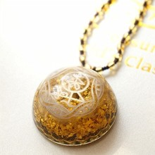 AURA REIKI 2019 Hot Orgonite Pendant Necklace Improves Emotional Health Aura Necklace For Women Pendulum Necklaces Gift