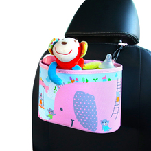 Cartoon Car Seat Back Food Drink Storage Hang Bag Baby Stroller Cart Paper Towel Toy Change Diaper Organizer Stowing Tidying