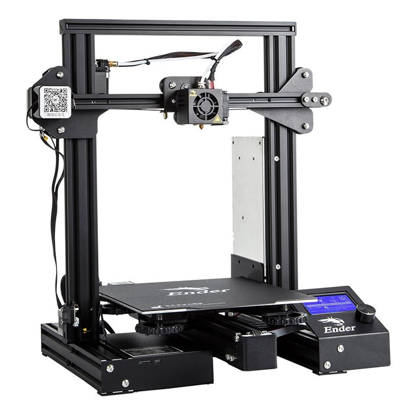 Creality 3D Ender 3 PRO 3D impresora mejorada Cmagnet Build Plate CV Impresión de fallo de energía KIT de bricolaje MeanWell fuente de alimentación - 3