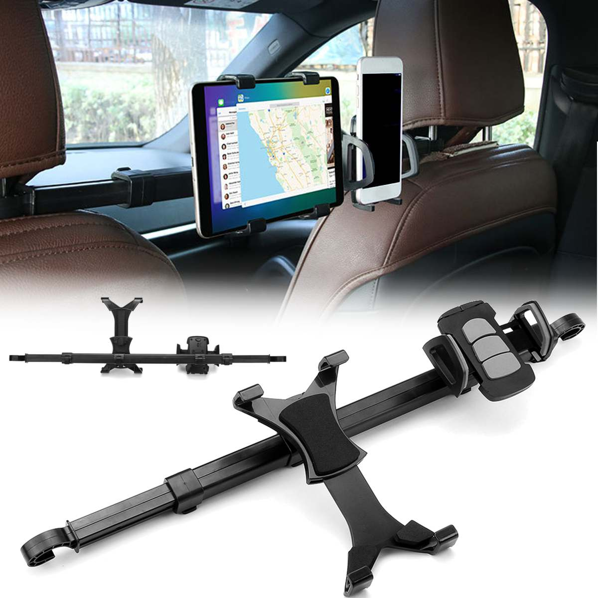 360 Degree Rotating Bracket Car Back Seat Headrest Mount Holder Tablet Pad Smart Phone Extendable Storage Stands Car Game Rack360 Degree Rotating Bracket Car Back Seat Headrest Mount Holder Tablet Pad Smart Phone Extendable Storage Stands Car Game Rack