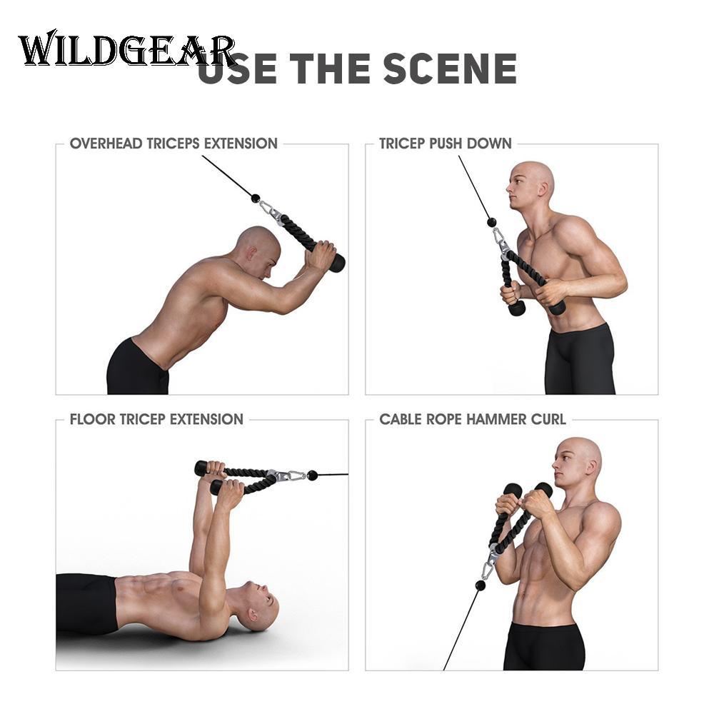 Tricep Cuerda Push Pull Down Cable Multi Gym El Levantamiento De Pesas Fitness