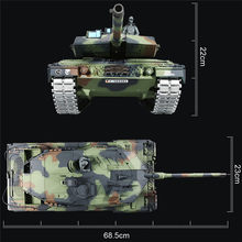 3889-1 1/16 2.4G German Leopard A6 infrared RC Tank real simulation sound RC Tank Model Tracks Sprockets Idlers Road Wheels toy(China)
