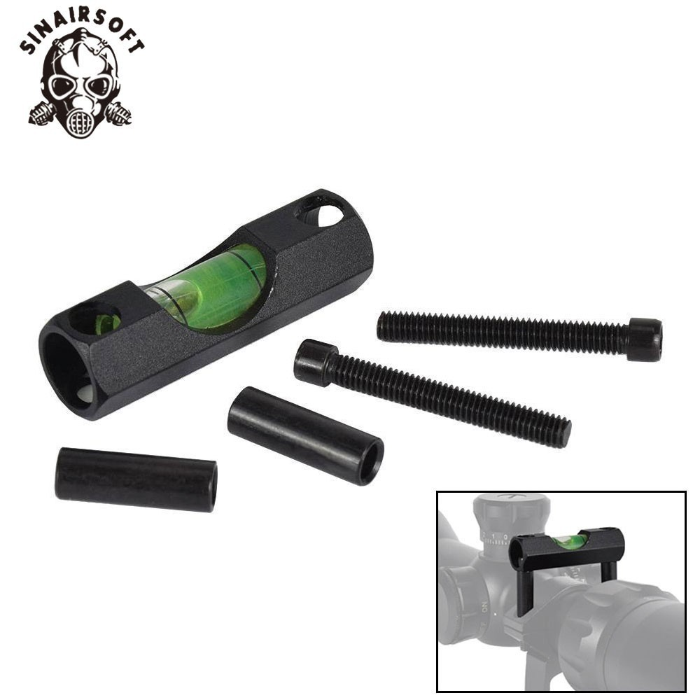 Tactical AEG Rifle Black Spirit Bubble Level Ring Fit 25.4/30mm Scope Mount Gradienter For Paintball Airsoft Hunting Accessories