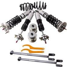 Coilovers Shock dla BMW serii 3 E46 M3 328 320 M3 24 Way regulacja amortyzator Saloon zawieszenie amortyzator 1998 05 + ramiona kontrolne