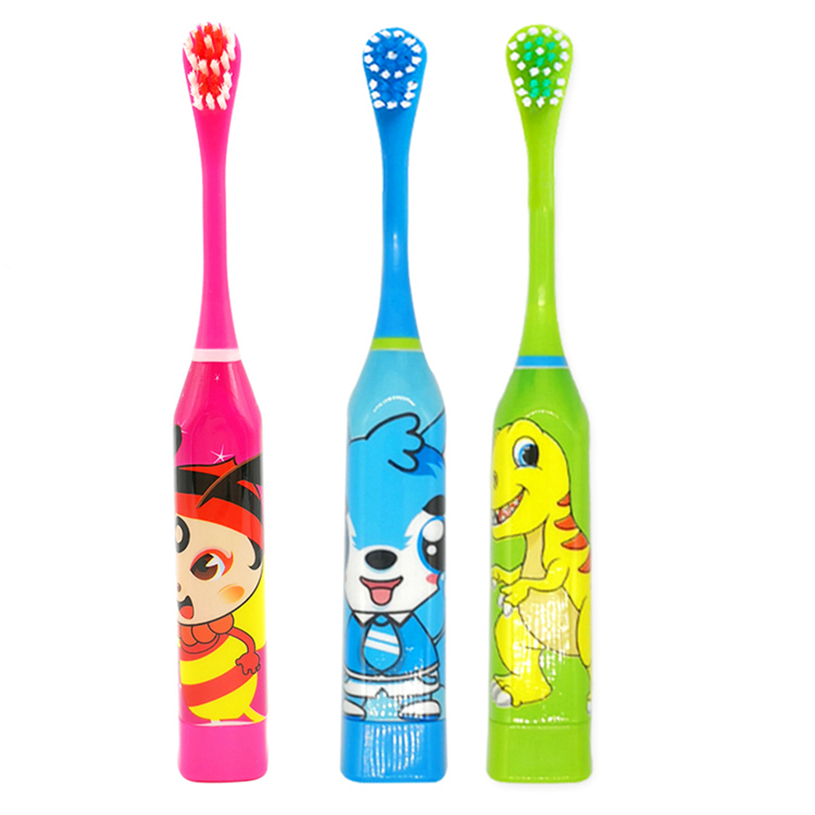 Children Electric Toothbrush Oral Care Kids Waterproof Cute Cartoon Electronic Brush Stages Battery Power Tooth brush Electric image