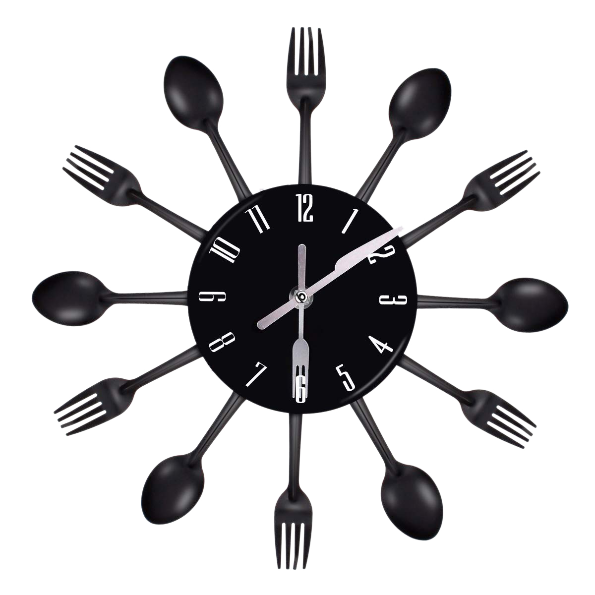 US $10.04 19% OFF Stainless Steel Cutlery Clocks Knife and Fork Spoon Wall  Clock Kitchen Restaurant Home Decorations-in Wall Clocks from Home & Garden  ...