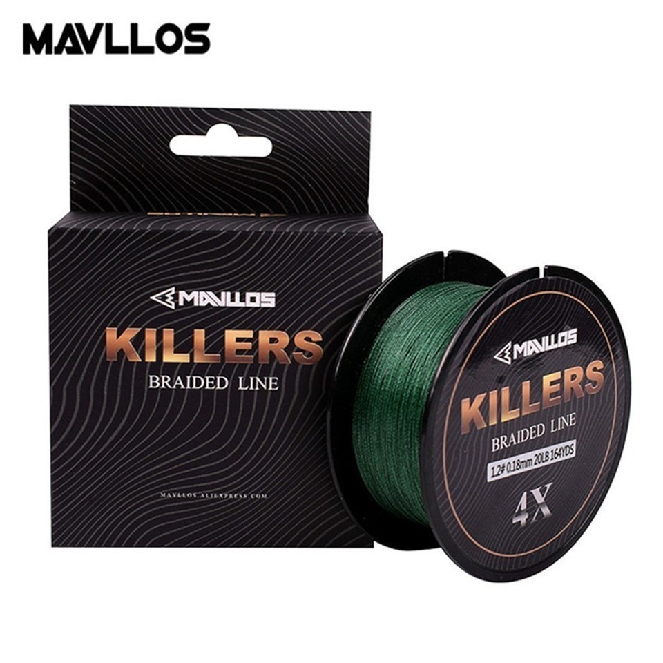 Mavllos Killers 150M 220M Fishing Braided Line 4 Weave 8-80Lb Super Strong Low Memory Saltwater Multifilament Fishing Line