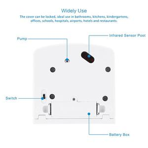 Image 5 - Dispensador de sabão sensor ir automático, dispensador de sabão para montagem na parede com sensor ir, sem toque, 600/700/1000ml casa líquida para cozinha banheiro