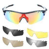 9295ef9196a55 Polarized Bicycle Glasses Bike Outdoor Sports Bicycle Glasses For Men Women  Eyewear Eyeglasses 5 Lenses Myopia