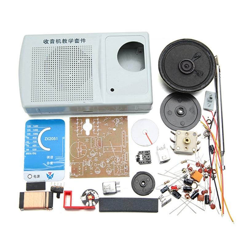 Tragbares Audio & Video FäHig Leory Diy Zx2051 Dc 3 V 0,5 W Fm Am Radio Kit Elektronische Lernen Kit Mit 2 Aa Batterie Einfach Zu Schmieren
