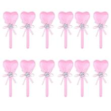12pcs Box Surprise A Candy Dragees Heart Shape Lollipop PVC with Ribbon for Anniversary Wedding - Pink