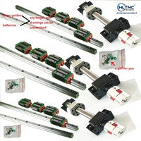 HLTNC 6 linear rails HGR20 Made in China+3 ball screws SFU1605 350/700/1100MM+ballscrew support 3 BK/BF12 +3 couplers for CNC