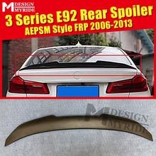 E92 Spoiler AEPSM style FRP Primer black rear lip wings For BMW 320i 323i 325i 328i 335i trunk wing Lip 2006-13
