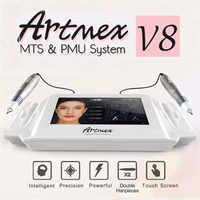 Artmex V8 Permanent Makeup Tattoo Machine Digital Electric Eye Brow Lip Rotary Pen MTS PMU System Makeup Machine 100-240V AC