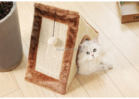6pcs/lot Multi functional Funny Cat Scratcher Toy With Ball Toy Soft Cat Kitten Sleeping Bed House Fast Express Free Shipping