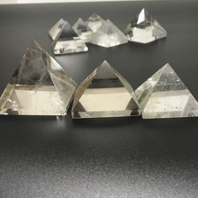 Natural White Crystal Pyramid Translucent Lucky Decoration Wholesale