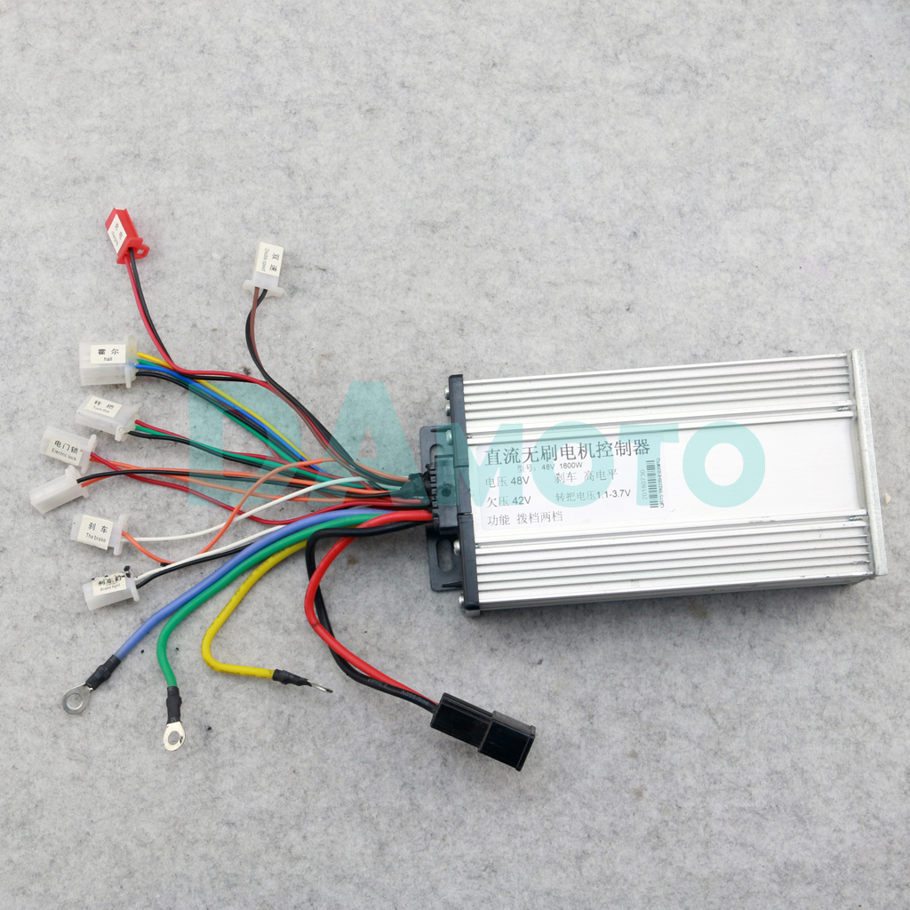 48v 1800w 32a Brushless Speed Controller Box For Go Kart Electric Honda St70 Wiring Diagram Motor Bike Bicycle Scooter