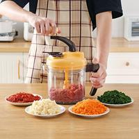 Kitchen Dicing Machine Vegetable Meat Grinder Integrated Cutter Artifact Multi Function Manual Food Chopper Mincer Mixer Blender