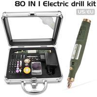 80-в-1 мини электрический поворотный бормашина с измельчения Аксессуары Multi-Функция гравировки Мощность набор инструментов