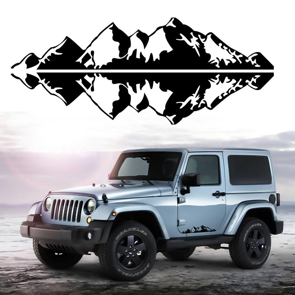 Detail feedback questions about 1pc cool 76x16cm mountain range sticker vinyl decals sticker for car auto jeep truck car sticker mountain decal on