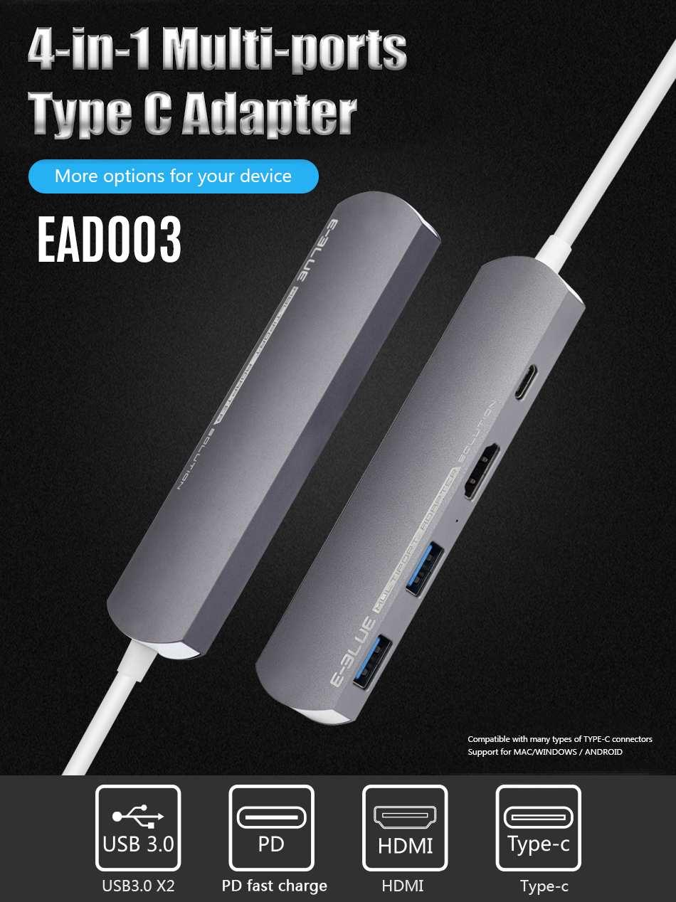 4 dans 1 DEX Station Type C pour Samsung S8 S9 Plus Note 8 9 dex câble usb C à adaptateur hdmi pour Huawei PC Mode Compagnon 20 P20 Pro