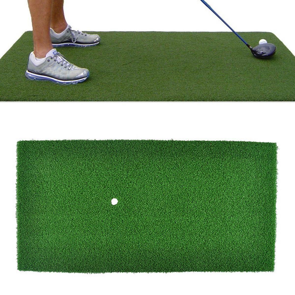 Backyard Golf Practice Mat Indoor Training Hitting Grass Driving Holder Protable