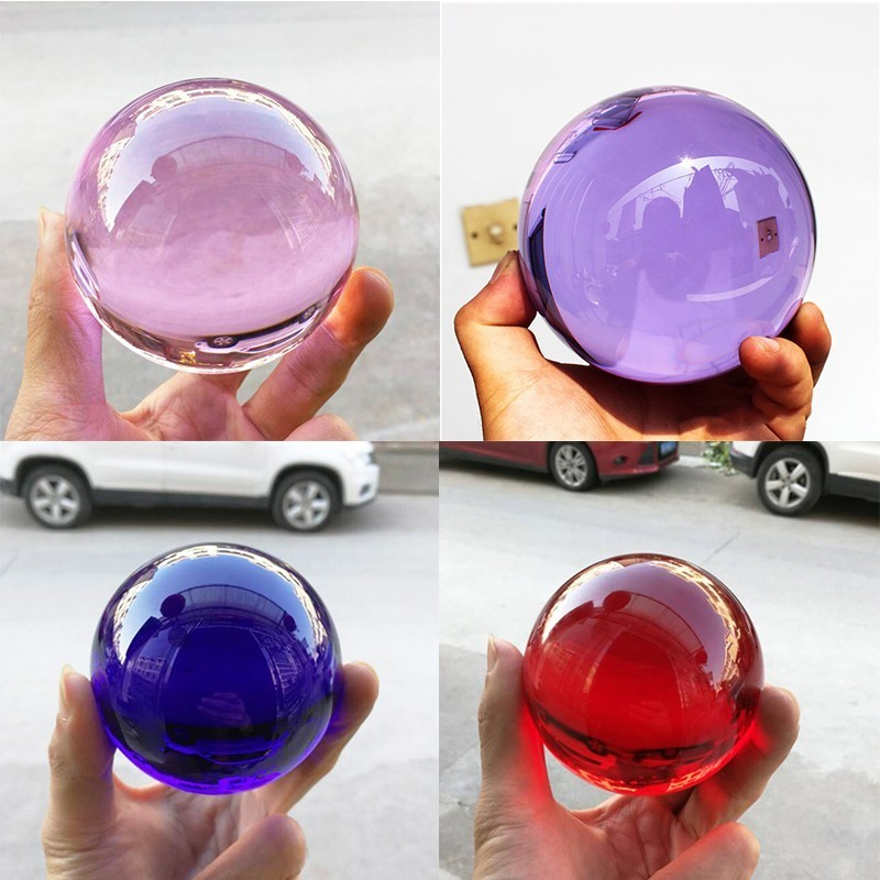Multicolor 50-100mm Magic Feng Shui Crystal Ball Lensball Crystal Sphere Glass Ball Birthday Gifts Desktop Home Decor Ornaments