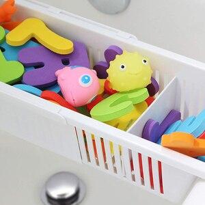 Image 5 - WSFS caliente bebé niños bañera organizador Almacenamiento de juguetes y bañera ajustable almacenamiento cesta titular cocina baño accesorios