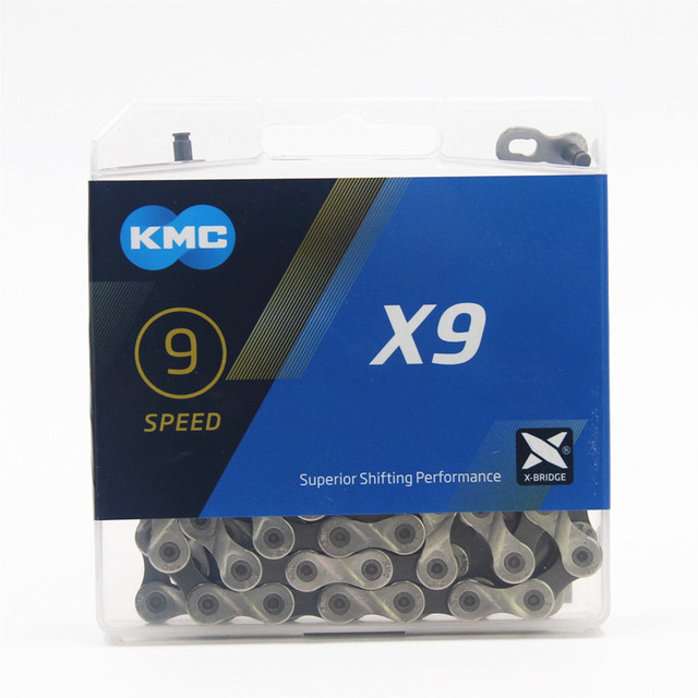 KMC X9.93 שרשרת 9 18 27 מהירות אופני הרי שרשרת אופניים מקורי X9 MTB כביש אופני 116L שרשרות