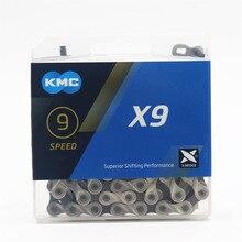 KMC cadena para bicicleta de montaña x9,93, cadena Original de 9, 18 y 27 velocidades, 116L