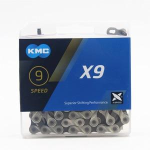 Image 1 - KMC cadena para bicicleta de montaña x9,93, cadena Original de 9, 18 y 27 velocidades, 116L