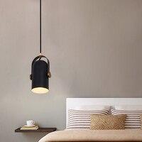 Criativo LED Luzes para Bar café Simples Holofotes Escandinavo Personalidade Criativa Quarto Preto Pequeno Candelier|Lustres| |  -