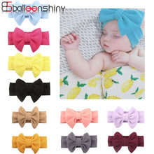 BalleenShiny 2019 New European and American Baby Girls Hair Accessories Super Soft Bow Type Children's Hair Band Headband(China)