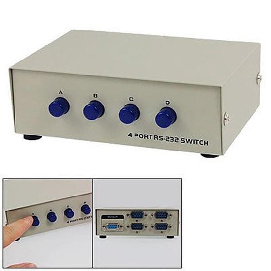 Computer-peripheriegeräte AnpassungsfäHig Db 9 Pin Männlich Weiblich Anschlüsse Serielle Netzwerk Sharing 4 Port Rs232 Schalter-scll Kvm-switches