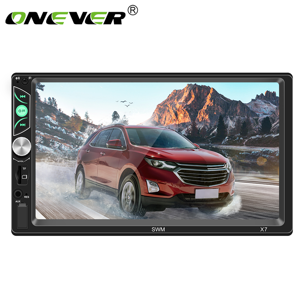 Onever 7 Inch Touch Screen Auto Car MP5 Video Player Audio Player Bluetooth Stereo Support Mirror Link Steering Wheel Control