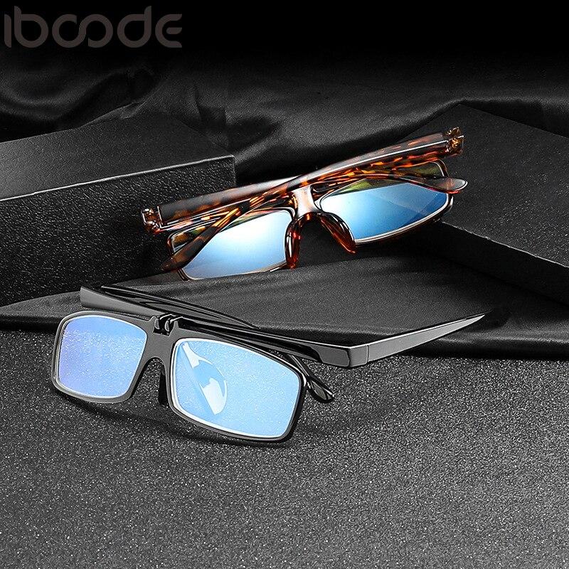 Herren-brillen Schlussverkauf Iboode Anti Blau Licht Design Brille Flip Up Lesebrille Für Männer Frauen Leser Presbyopie Eye Glasse 1,0-3,5 Hd Brille Hochwertige Materialien Bekleidung Zubehör