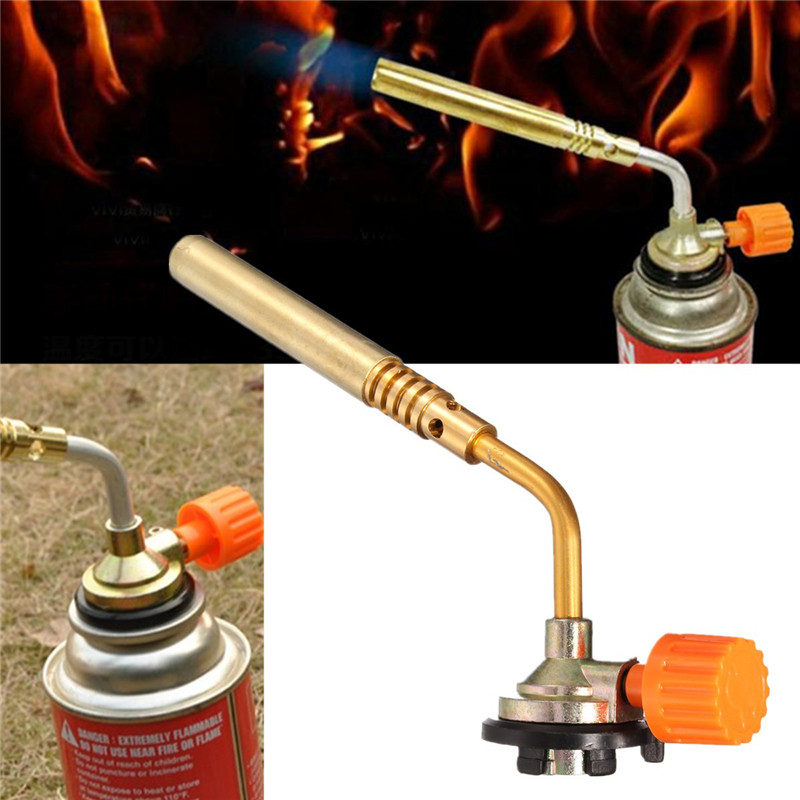 Manual Bayonet Flame Guns Replacement Nozzle Gas Torch Butane Burner Outdoor Camping Picnic BBQ Baking Spray Guns Part Portable