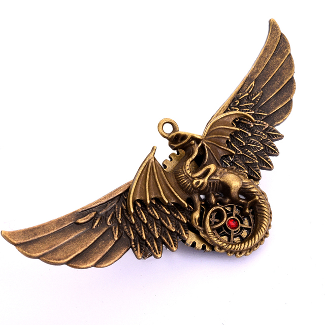 Steampunk Angel Wings Hair Clip Women Men's Party Pin Christmas Gift Antique Dragon Hair Pin Gothic Accessories