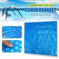 180*180cm Square Swimming Pool Hot Tub Cover Outdoor Heater Bubble Blanket Dustproof Outdoor Garden Pool Cloth Mat Cover