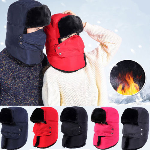 Hat Trooper Face-Mask Snow Winter Women Mens Warm Hood-Cap Balaclava Fleece Ski-Neck
